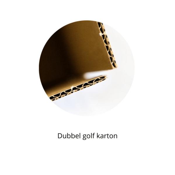 Extra stevig door dubbel golf karton