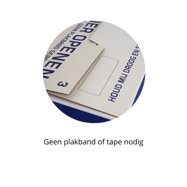 Geen tape of plakband nodig