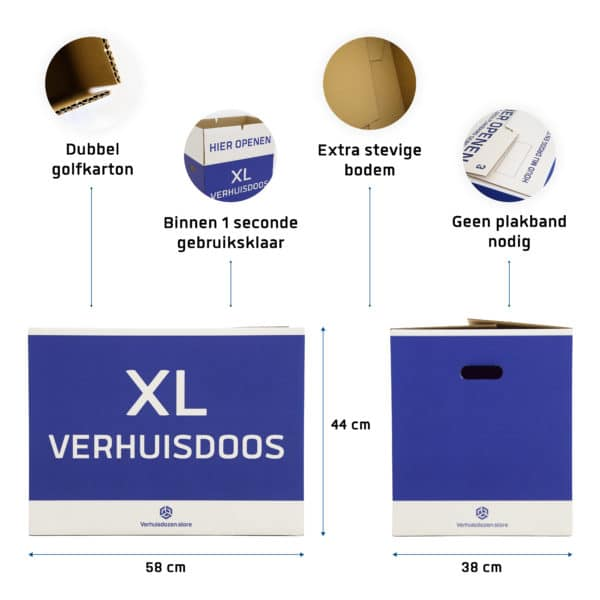 XL verhuisdoos specificaties